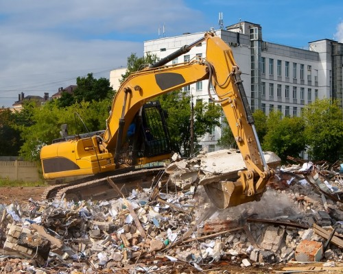 A building successfully demolished by our team.
